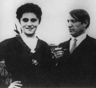 With Olga Hohlova, 1920