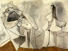 Pablo Picasso. Two Seated Women