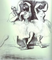 Pablo Picasso. Three Dancers, 1919 - 1920