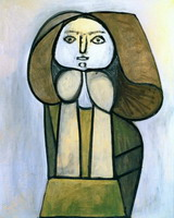 Pablo Picasso. Woman in green dress
