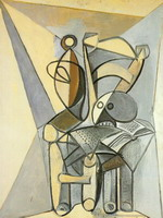 Pablo Picasso. crane on a chair