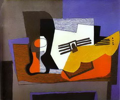 Pablo Picasso. Still Life with Guitar