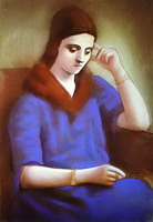 Portrait of Olga Picasso, 1922 - 1923