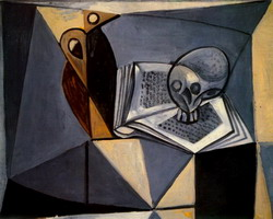 Skull and Book
