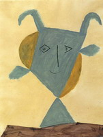 Pablo Picasso. Green animal head