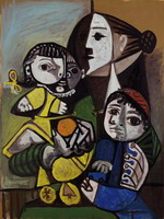 Pablo Picasso. Mere children has l`orange