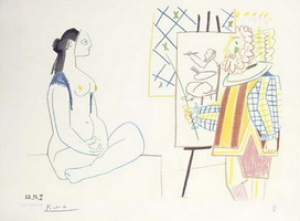Pablo Picasso. The Artist and His Model II