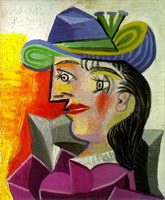 Woman with a Blue Hat