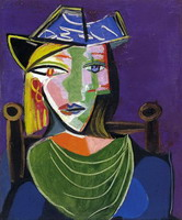 Portrait of woman with a beret