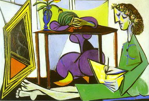 Pablo Picasso. Interior with a Girl Drawing