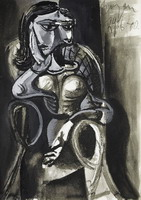 Pablo Picasso. Woman sitting in an armchair