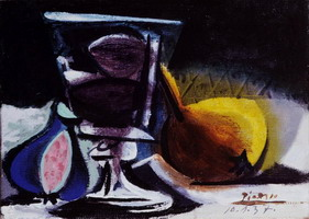 Still life with glass