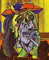 Pablo Picasso. Theme:  Weeping Woman.