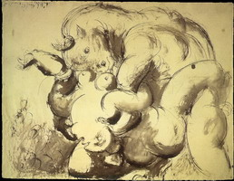 Pablo Picasso. Minotaur and Naked (Rape)