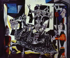 Pablo Picasso. Knight, Page and Monk
