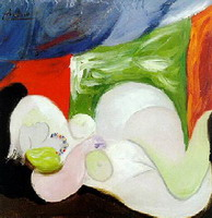 Pablo Picasso. Reclining Nude with the necklace