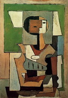 Pablo Picasso. Composition with character [Woman with arms crossed]