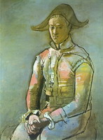 Seated Harlequin (Jacinto Salvado), 1923