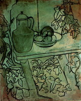 Pablo Picasso. Still life with tomatoes