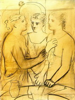 Pablo Picasso. Three women at the fountain 2, 1921