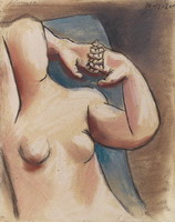 Pablo Picasso. Naked female torso, the hands crossed