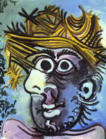 Pablo Picasso. Human head with Straw Hat