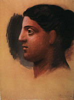 Pablo Picasso. Head of a Woman (Study for `Three women in fontaine`)