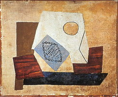 Pablo Picasso. Still Life with pack of cigarettes