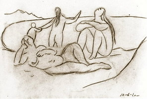 Pablo Picasso. Bathers and children