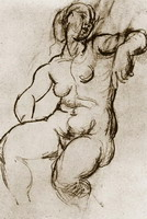 Pablo Picasso. Seated Nude, 1922