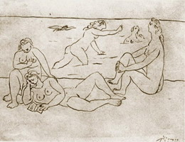 Pablo Picasso. Bathers on the beach