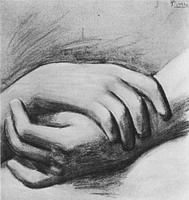 Pablo Picasso. study of hands