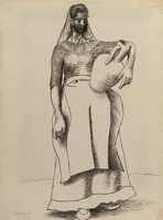 Pablo Picasso. Woman with pitcher, 1919