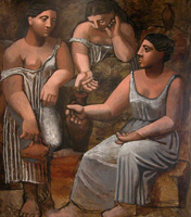 Pablo Picasso. Three women at the fountain