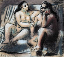 Pablo Picasso. Two seated naked women