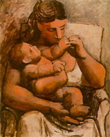 Pablo Picasso. Mother and child (Mother and Child)