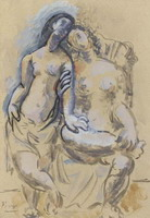 Pablo Picasso. Two naked femenins (Two Women)