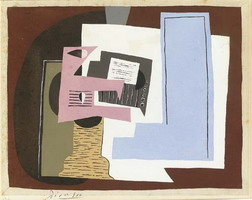 Pablo Picasso. Still Life with guitar and partition