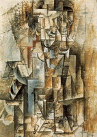 Pablo Picasso. [Man with Guitar] Male violin