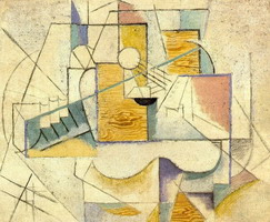 Pablo Picasso. Guitar on a table II