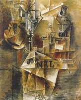 Pablo Picasso. Still Life with newspaper