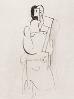 Pablo Picasso. Woman sitting in a chair [The ice above the fireplace], 1916