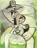 Pablo Picasso. Maternity apple [Woman and child]