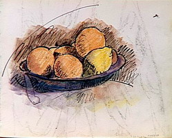 study for still life (fruit in a cup)