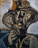 Pablo Picasso. Man with pipe (for Jacqueline)