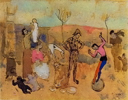 Pablo Picasso. Family jugglers