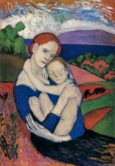 Pablo Picasso. Mother and Child [The Maternity] [Mere holding the lad], 1901