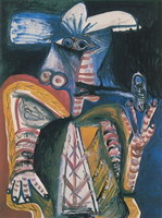Pablo Picasso. Man with pipe