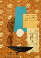 Pablo Picasso. Guitar, Sheet Music, and Glass