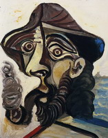 Pablo Picasso. Head man smoking a pipe (for Jacqueline)